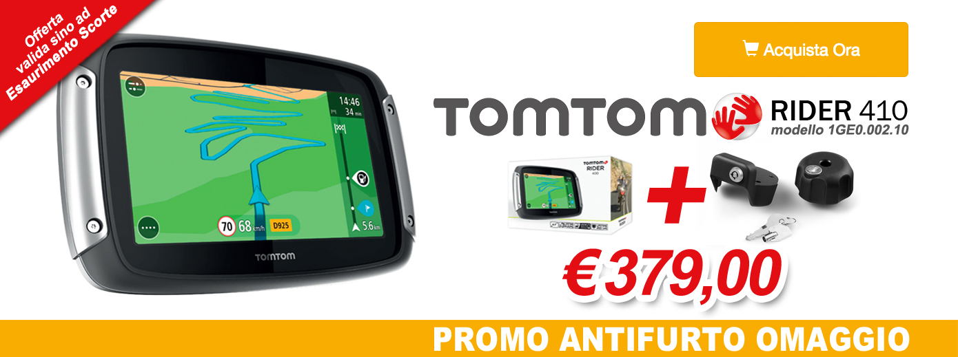 TomTom Rider 410 + Anti-Theft for Free
