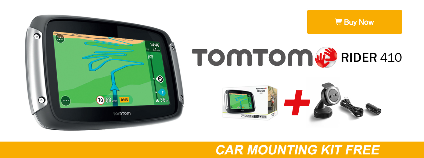 TomTom Rider 410 + Car Mounting for Free
