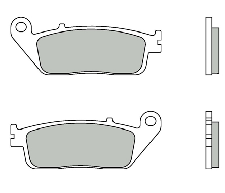 Brake Pads Brembo 07075XS Sintered (1 couple for 1 disk), Rear Honda Silver Wing 400/600, SW-T 400/600, Front and Rear Rear Kymco Xciting 500 09-
