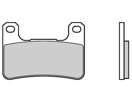 Brake Pads Brembo 07SU27RC Extreme Racing (1 couple for 1 disk), for radial calipers (Suzuki MY 03 excluded)