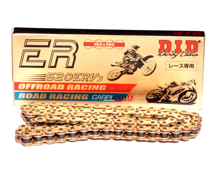 DID 520 ERV3 Gold & Gold Chain, 120 links, 520 size, MotoGP/SBK/SS/STK Racing