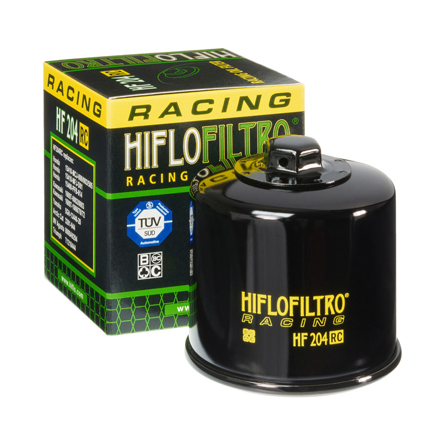 HiFlo-Filtro Oil Filter HF 204 RC Racing Road and Track for Honda, Kawasaki, Yamaha, Triumph