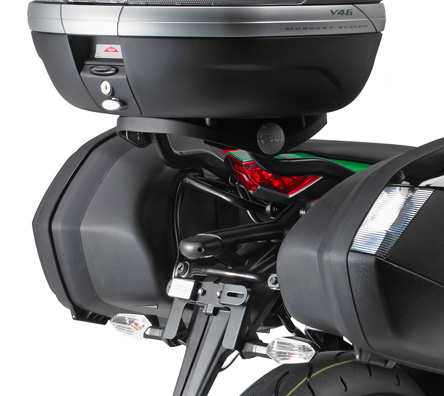 Givi Monokey or Monolock top case Rear Rack for Kawasaki Z1000 SX; works with M5 / M5M / M6M / M7 / M9A/M9B / M8A/M8B / EX2M, does not work with oem pannier