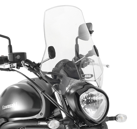 Givi Univeral Windscreen A660, 2 fixing brackets included, color Light Smoke, dim. HxW 42,5 x 42 cm