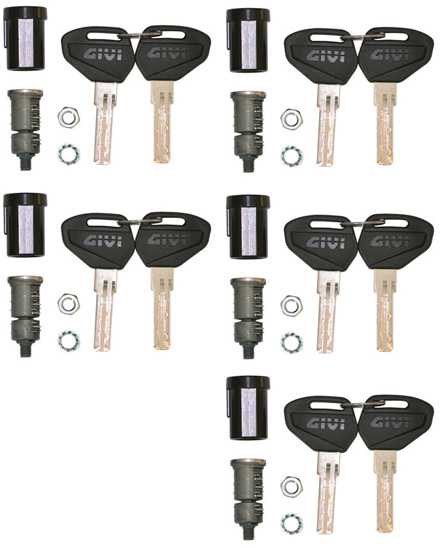 Givi Security Key Lock Set, for 5 Bags