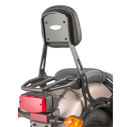Givi TS1160B Passenger Backrest with Removable Luggage Rack for Honda CMX 500 Rebel 17-
