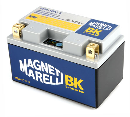 Magneti Marelli Lithium Battery MMYZ10S, CCA 240A, Weight 855 grams, equivalent YTZ10S YTX12-BS YTX12A-BS YB12B-B2; LH polarity, 149x86x92 mm, save 2,3/3,3 Kg on YTZ10S/YTX12-BS