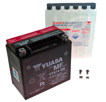 Genuine Yuasa YTX14H-BS Motorcycle Battery High Performance Version of YTX14-BS