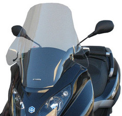"Fabbri Windshield Piaggio MP3 125/250/300/400 06-09, ""Estate"" type, dim 60x65cm, dim HxL 600mm x 650mm"