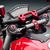 Rizoma Steering Damper Bracket for Ducati Streetfighter, color Red