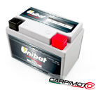 Unibat Lithium eXtra BMS Battery ULT1B, CCA 150A, Capacity 2,5Ah, Weight 0,51 Kg, dim. 113x68x85