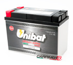 Unibat Lithium eXtra BMS Battery ULT4, CCA 480A, Capacity 8Ah, Weight 1,45 Kg, dim. 175x87x130mm