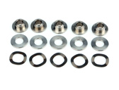 5 Bushes, 5 Washers, 5 Crinkle Washers kit for Brembo Serie Oro 68B407D7 and 68B407D6 series disks, brembo pn 105577612
