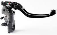 Radial Brake Master Cylinder Brembo 14RCS; Fold-Up Lever, 18-20 ratio, switch stop; for ONE disk brake systems