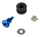 Bolt Fixing Kit for Brembo Brake / Clutch Fluid Reservoirs, color Blue
