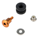 Bolt Fixing Kit for Brembo Brake / Clutch Fluid Reservoirs, color Gold