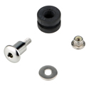 Bolt Fixing Kit for Brembo Brake / Clutch Fluid Reservoirs, color Silver