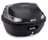 Givi B37 Blade Tech Top Case, color Black, Monolock mounting plate and universal fitting kit included, Smoked reflectors, 37 Liters, fits Monolock system