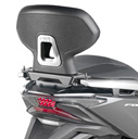 GIVI Backrest for Honda Forza 350; not compatible with rear rack