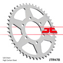 JT Sprockets Steel Rear Sprocket JTR478 for Kawasaki Z800, Z900 +1, Z750, Z750R, ZX-6R, 520 Chain, 45 Teeth, Color Silver
