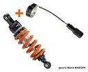 Matris Rear Shock Absorber for Honda X-ADV, KD version and separeted hydraulic spring preload, adjustable with knob; adjustments : Rebound, Height, Spring Preload