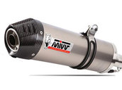 Mivv Exhaust for Suzuki Gladius Slip-on Oval Titanium / Carbon End Cap Muffler, Street Legal, db killer removable silencer