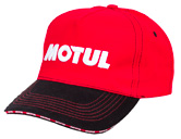 Motul Official Merchandising Cap, Red / White embroidery, Double Layer Black Visor