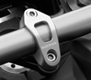 Rizoma Steering Damper Bracket for Ducati Streetfighter, color Silver