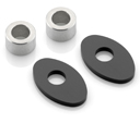 Indicator Mounting Adapters for KTM, pn FR230B, kit for a pair of indicators