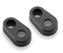 Indicator Mounting Adapters for Ducati Scrambler, Triumph Street Twin (only for front), kit for a pair of indicators