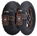 Thermal Technology Evo TRI Zone Motorcycle Tyre Warmers, 1 Set Superbike tire warmers, color Black XL