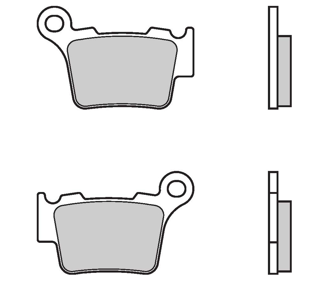 Brembo Brake Pads 07bb275a Rc Car Wiring Diagram Rc8 2e Rear Genuine Parts Sintered Street With Heat Shield 1 Couple For