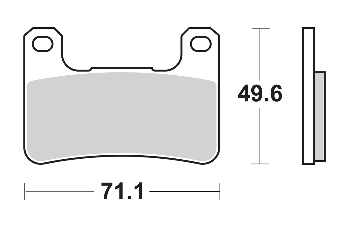 sbs brake pads 806ds for kawasaki zx