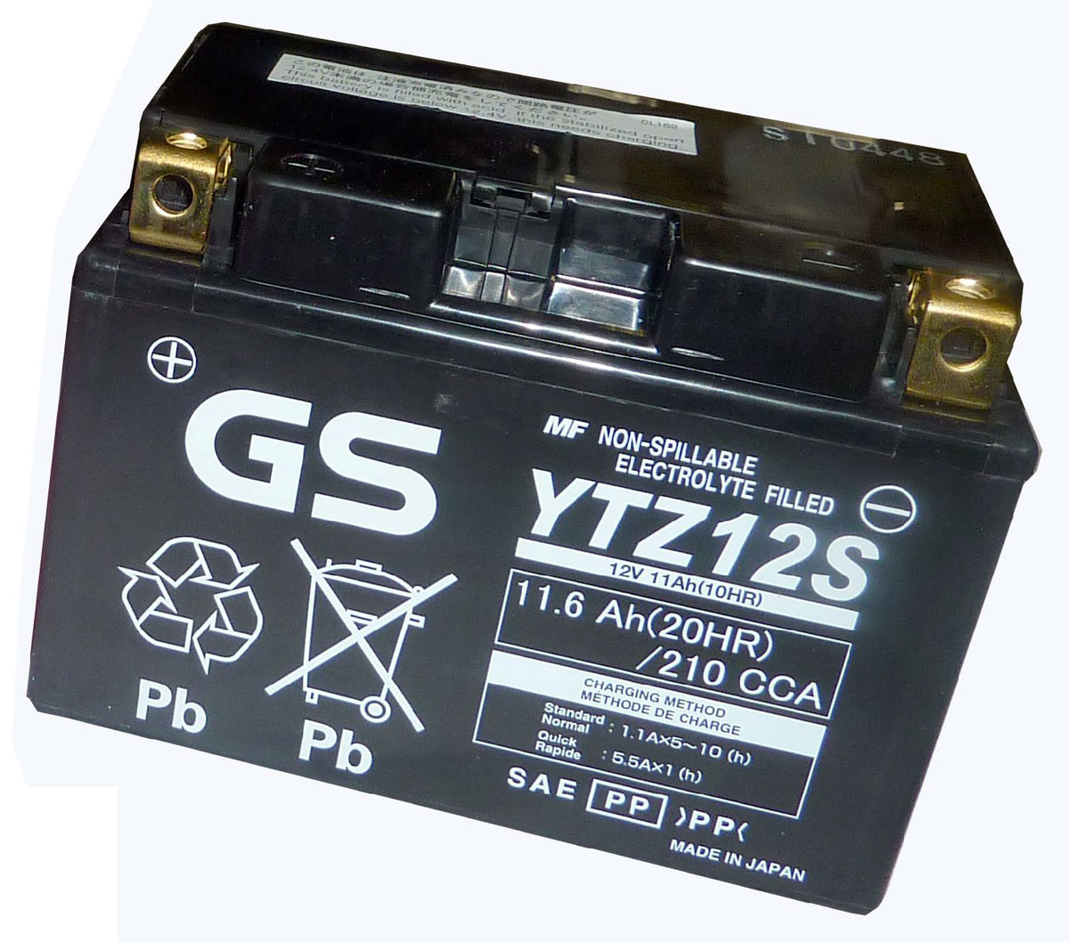 Gs Yuasa Battery Ytz12s For Honda Jazz 250 In Batteries