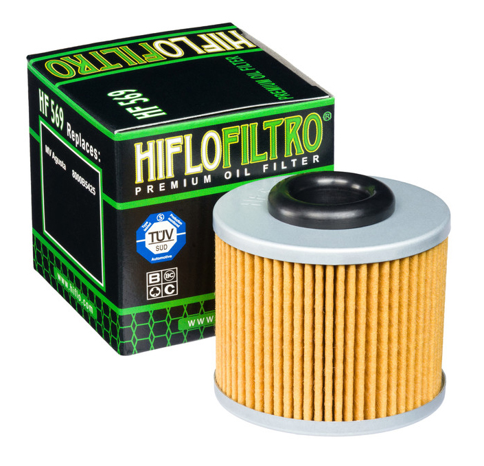 Hiflo Motorcycle Oil Filter HF569 Quantity 2