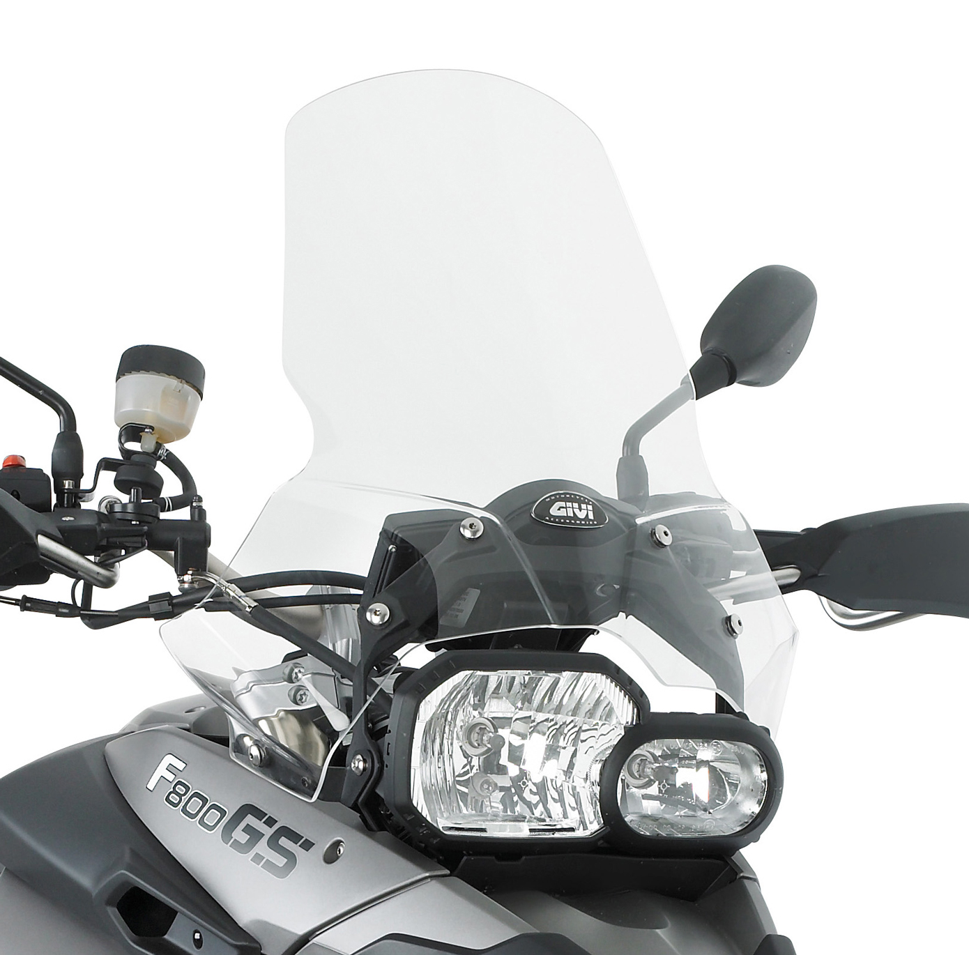 333DT Completo con enganches D333KIT Parabrisas Givi Compatible con BMW F 800 GS 2010