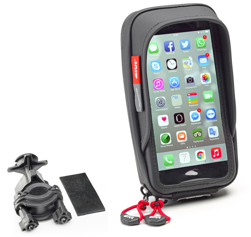 Smart phone / GPS Givi S957B holder for handlebar mounting suitable for  screens up to 5,8 inches