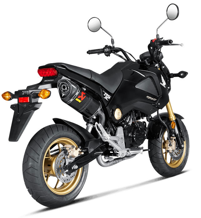 Akrapovic E‐H125E1 Pipes for MSX 125/Grom, are a complete exhaust if  combined with Akrapovic slip on muffler