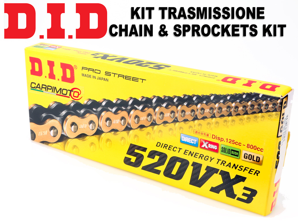 Kawasaki KFX50 Quad 03-08 DID Chain And Sprocket Kit