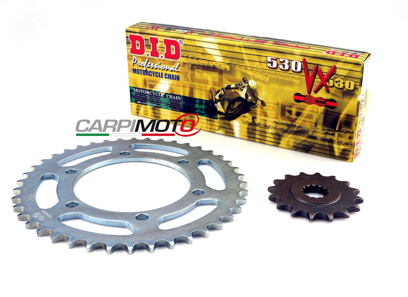 DID 530VX Chain & 17/34T Sprocket Kit Honda CB 500 Four (K0/K1/K2/K3)  71-79, DID 530 VX Gold & Black Chain Links 100, Rear Sprocket 34 teeth,  Front