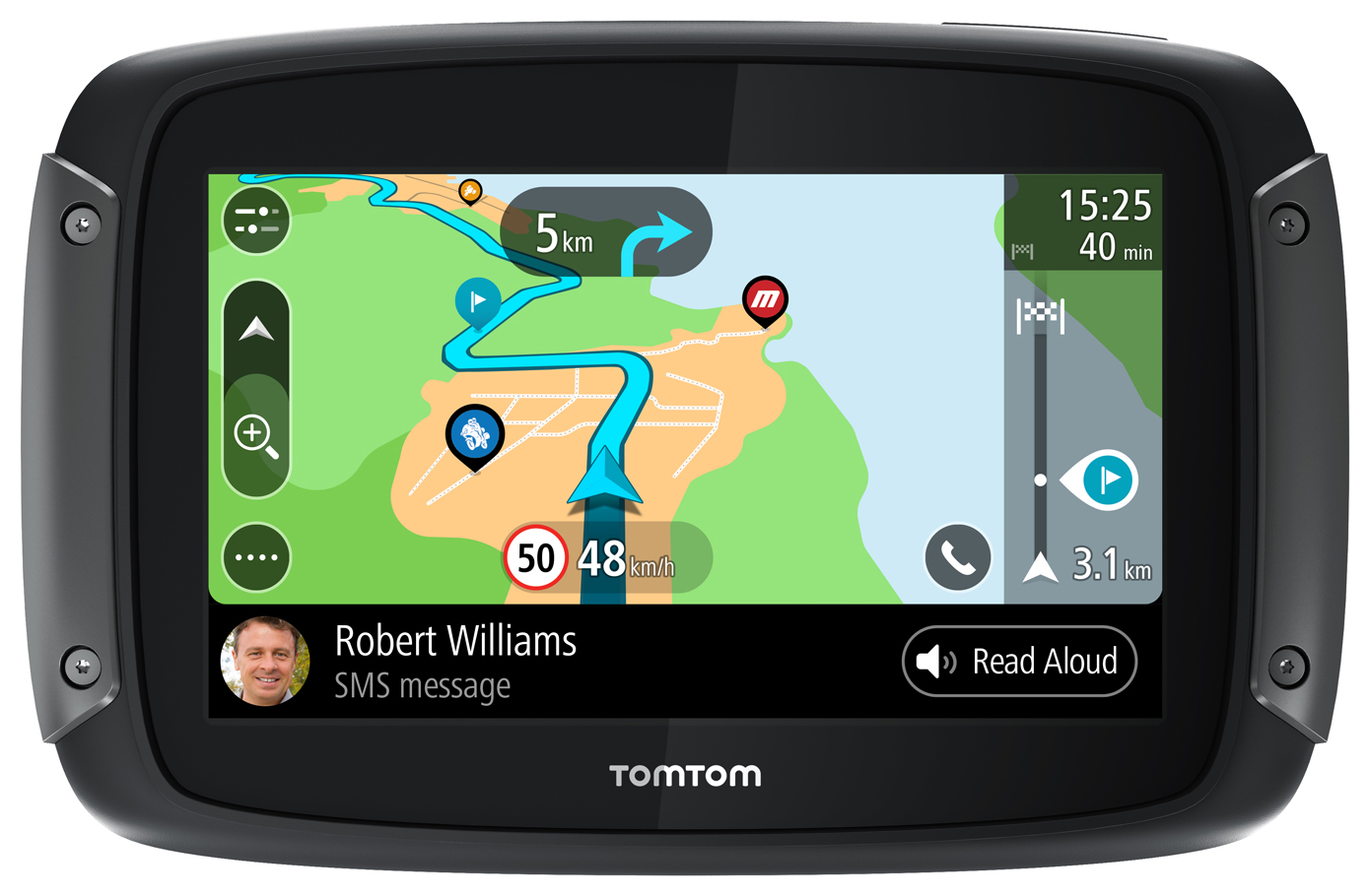 TomTom RIDER 550 World Maps Motorcycle and Car Navigator, pn 1GF0 002 10