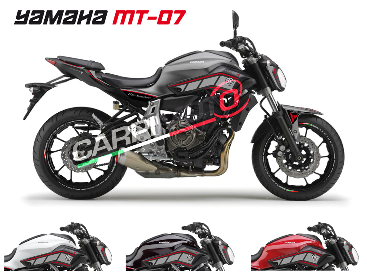 Adesivi stickers stickers set mt07 200g for Yamaha mt 200
