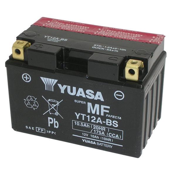 Batterie KAWASAKI j125 ABS sc125 Bj 2016 Yuasa yt12a-bs AGM