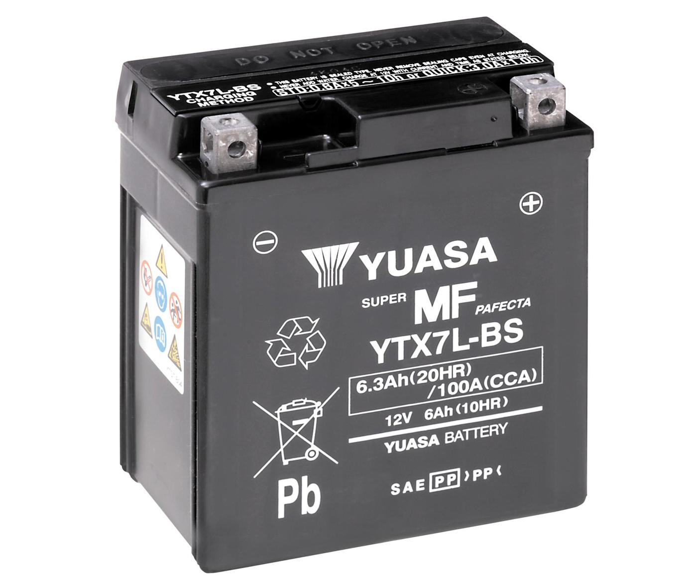 BATTERIA UNIBAT YTX7L-BS 12V 6Ah HONDA SH 125 150 HORNET 600 COME YUASA