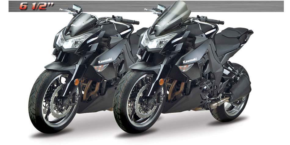 Zero Gravity Double Bubble Windscreen Dark Smoke 16-227-19 Kawasaki ZR1000 etc